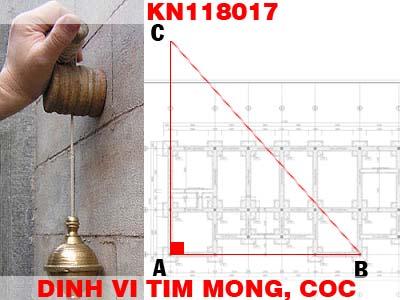 Cách định vị tim móng, cột khi thi công công trình nhà ở KN118017