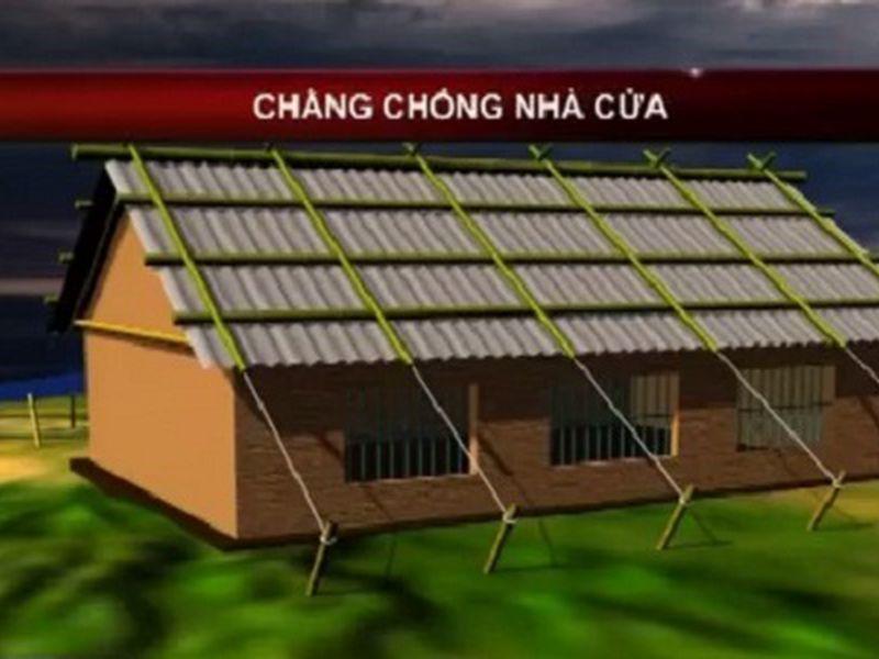 cách chống bão cho nhà mái tôn bằng nẹp tre