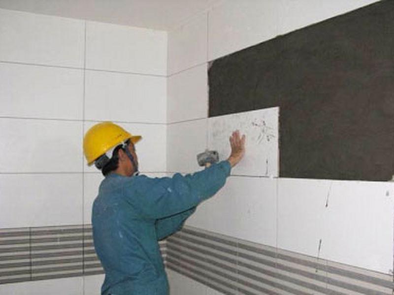 cách ốp gạch men trên tường