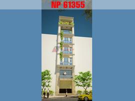 Mẫu thiết kế nhà phố mặt tiền 5m hiện đại đẹp NP61355