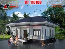 Nhà cấp 4 ở nông thôn 3 phòng ngủ 1 phòng thờ diện tích 130m2 BT110106