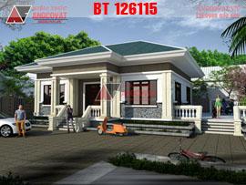 Mẫu thiết kế nhà cấp 4 mái thái hiện đại 120m2 kinh phí 600 triệu BT126115