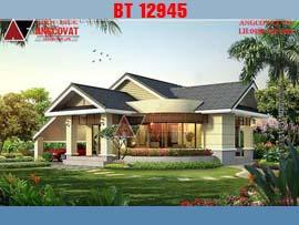 Nhà đẹp 1 tầng ở nông thôn 2 phòng ngủ mặt tiền 15m kinh phí 1,3 tỷ đồng BT12945