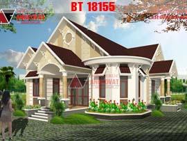 Biệt thự 1 tầng phong cách châu âu 3 phòng ngủ 10x20m(200m2) BT18155