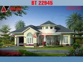 Mẫu thiết kế biệt thự 1 tầng phong cách châu âu 16x17m BT22945