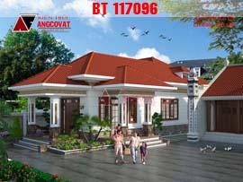 Mẫu thiết kế nhà cấp 4 hình chữ L diện tích 150m2 3 phòng ngủ BT117096