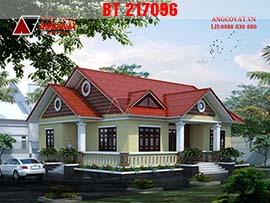 Mẫu thiết kế nhà cấp 4 hình vuông mặt tiền 14m diện tích 130m2 BT217096