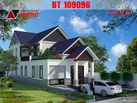 Mẫu thiết kế nhà cấp 4 mặt tiền 7m diện tích 100m2 có gác lửng BT109096