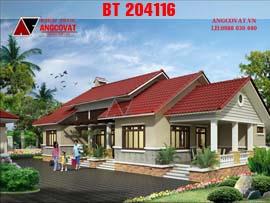Mẫu nhà 3 gian 2 chái kiểu mái thái hiện đại diện tích 200m2 BT204116