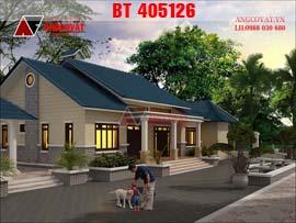 Mẫu nhà 3 gian hiện đại ở nông thôn BT405126