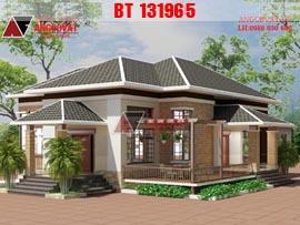Mẫu thiết kế nhà 1 tầng đơn giản mặt tiền 9m diện tích 130m2 kinh phí 800 triệu BT131965