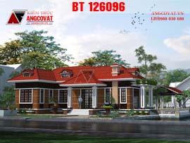 Biệt thự 1 tầng hình chữ L mặt tiền 10m BT126096