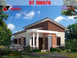 Mẫu thiết kế nhà cấp 4 mái lệch 2 phòng ngủ mặt tiền 8x12m BT106076