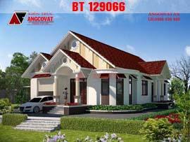 Mẫu thiết kế nhà biệt thự 1 tầng 180m2 mặt tiền 11x18m 3 phòng ngủ BT129066