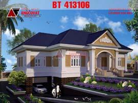 Thiết kế biệt thự 250m2 1 tầng, có hầm phong cách tân cổ điển BT413106
