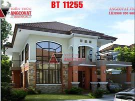 Mới lạ với mẫu thiết kế nhà 2 tầng kiểu thái mặt tiền 10m BT11255
