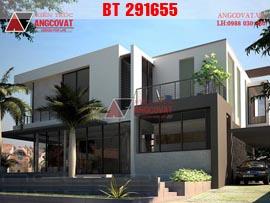 Mẫu biệt thự 2 tầng mái bằng hiện đại 15x15m đẹp có gara BT291655