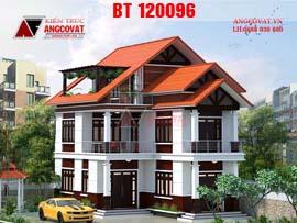 Nhà 2 tầng hình chữ L ở nông thôn 4 phòng ngủ đẹp BT120096