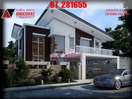 Mẫu nhà đẹp 2 tầng ở phố 9x14m có 3 phòng ngủ rộng rãi BT281655