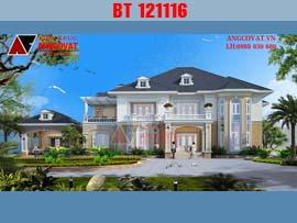 Biệt thự 2 tầng tân cổ điển mang phong cách châu âu hiện đại BT121116
