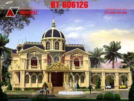Biệt thự lâu đài kiểu pháp đẹp tinh tế đến từng chi tiết nhỏ BT107126