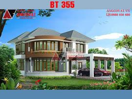 Mẫu thiết kế nhà 2 tầng 120m2 11x11m chi phí 1.4 tỷ đồng BT355