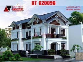 Biệt thự 2 tầng phong cách tân cổ điển mặt tiền 7m BT620096