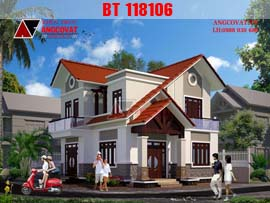 Mẫu nhà 2 tầng ở nông thôn diện tích 80m2 nhỏ xinh đẹp mê ly BT118106