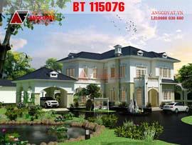 Mẫu thiết kế biệt thự 2 tầng phong cách châu âu diện tích 265m2 mặt tiền 25x17m BT115076
