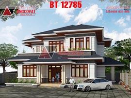 Thiết kế biệt thự 200m2 2 tầng 5 phòng ngủ kiểu thái giá 2.7 tỷ VND BT12785