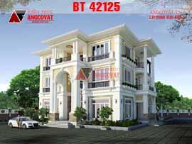 Thiết kế biệt thự 3 tầng cổ điển 300m2 có bể bơi 7 phòng ngủ BT42125