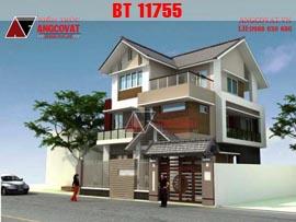 Biệt thự 3 tầng mặt tiền 8m 5 phòng ngủ diện tích 100m2 BT11755