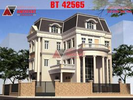 Thiết kế biệt thự sang trọng 3 tầng mặt tiền 12m diện tích 120m2 BT42565