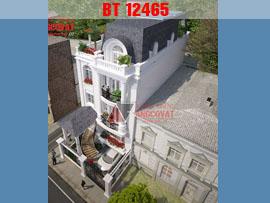 Biệt thự 3 tầng 2 mặt tiền kiểu pháp 8x16m mặt tiền 8m ở Lâm Đồng BT12465