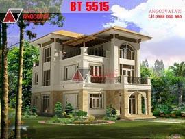 Nhà đẹp 3 tầng 10x17m 5 phòng ngủ diện tích 170m2 mặt tiền 10m  BT5515