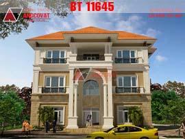 Thiết kế nhà 3 tầng có gara diện tích 10x12m BT11645
