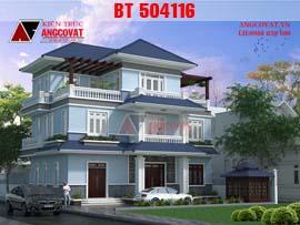 Thiết kế nhà 3 tầng mái thái đơn giản diện tích 120m2 BT504116