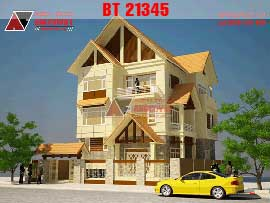 Biệt thự đẹp 3 tầng mái thái mặt tiền 12x14m diện tích 180m2  BT21345