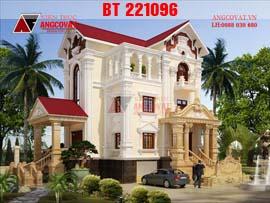 Biệt thự cổ điển kiểu pháp 3 tầng đẹp từng centimet BT221096
