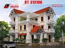 Biệt thự 3 tầng kiểu pháp diện tích 150m2 đẹp tinh tế trên từng chi tiết BT313106