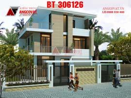 Biệt thự mặt tiền 9m 3 tầng phong cách hiện đại BT306126