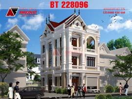 Biệt thự 3 tầng cổ điển kiểu pháp mặt tiền 8m BT228096