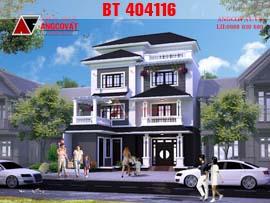 Mẫu nhà đẹp 3 tầng 1 tum mặt tiền 10m diện tích 80m2 BT404116
