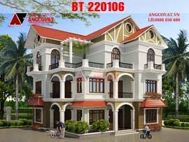 Nhà 3 tầng đẹp 2016 mái thái 2 mặt tiền  5 phòng ngủ khép kín BT220106