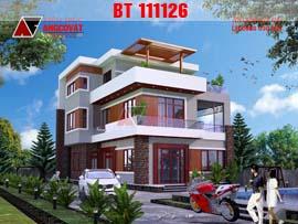 Nhà đẹp 3 tầng mặt tiền 10m phong cách hiện đại BT111126