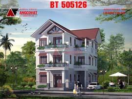 Nhà biệt thự 3 tầng mặt tiền 10x13m diện tích 120m2 mái thái hiện đại BT505126