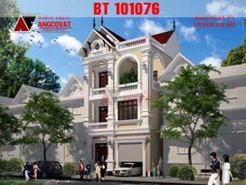 Mẫu thiết kế biệt thự phố mặt tiền 8x11m diện tích 90m2 BT101076
