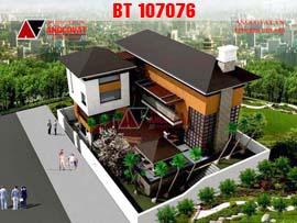 Mẫu thiết kế nhà biệt thự 3 tầng hình chữ L mặt tiền 20x12m BT107076