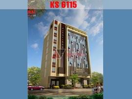 Thiết kế khách sạn 2 sao 8 tầng hiện đại tại Hưng Yên KS6115