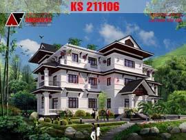 Thiết kế khách sạn 3 tầng mini tiêu chuẩn 2 sao KS211106